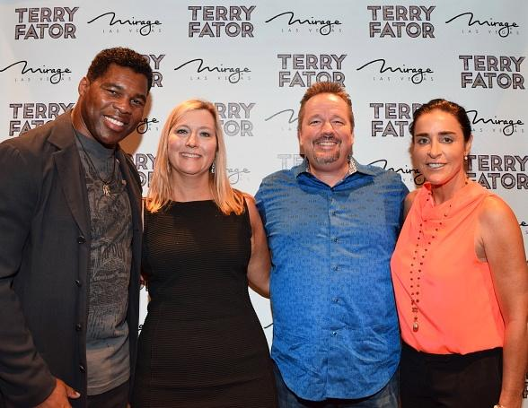 Herschel Walker attends Terry Fator's show at The Mirage in Las Vegas