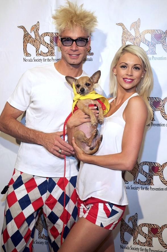 Murray SawChuck, Chloe Louise Crawford, Lance Burton, Mark Shunock at Nevada SPCA Celebrity Bowling Tournament