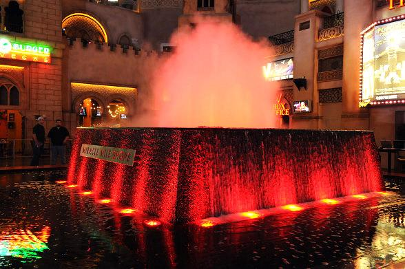 Miracle Mile Shops Turns its Fountain Red for American Heart Month