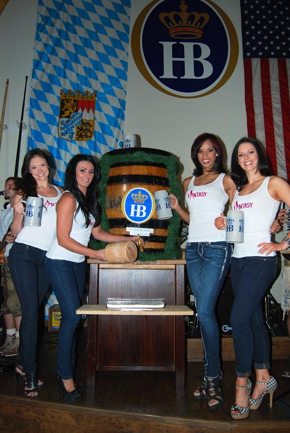 Ladies of FANTASY Tap Maibock Keg at Hofbräuhaus Las Vegas