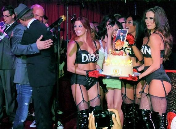 Matt Goss and his twin brother Luke Goss celebrate their birthday at Caesars Palace in Las Vegas