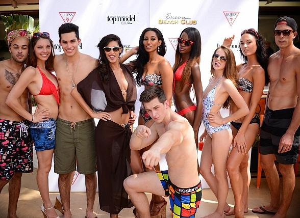 "Guess Hosts ""Recess Fridays"" Party with ""Americas Next Top Model"" Alumni at Encore Beach Club"