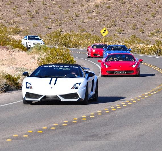 Some of the exotic cars offered by Word Class Driving