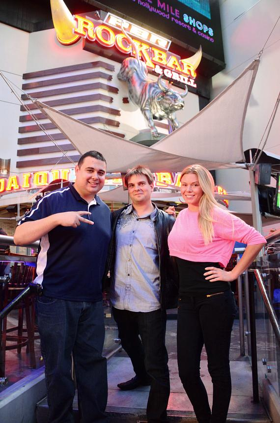 "Robert Blasi, Kevin Lepine and Christina ""CC"" Christensen at PBR Rock Bar"