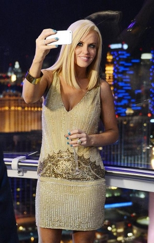 """Jenny McCarthy takes a """"selfie"""" 550 feet in the air on the High Roller at The LINQ Promenade in Las Vegas"""
