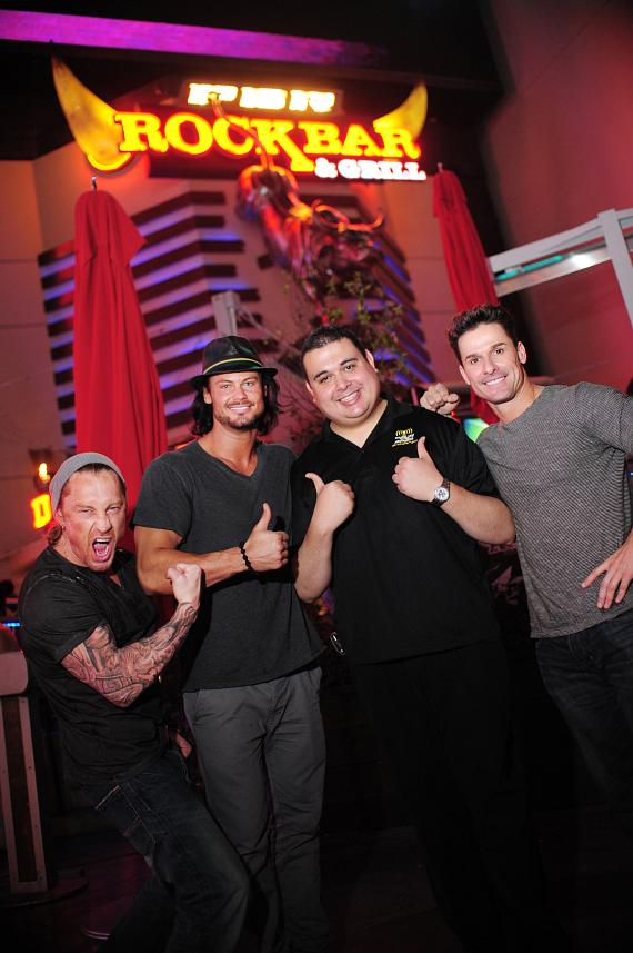 Robert Blasi with cast members of Thunder from Down Under at PBR RockBar
