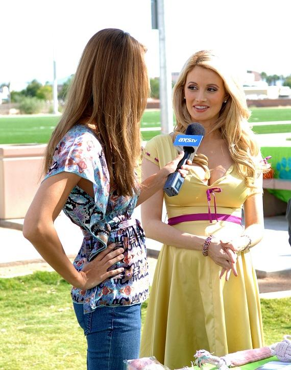 Holly Madison interviewed on TV at the Forever Home Picnic to Benefit the Lied Animal Foundation