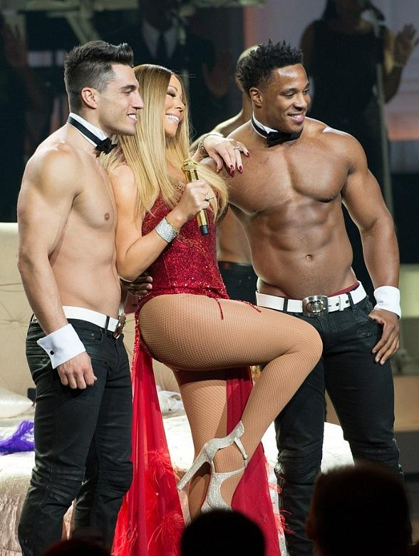 The Chippendales join Mariah Carey on stage at The Colosseum at Caesars Palace
