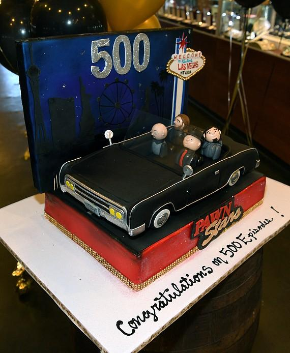 Cake celebrating 500th Episode of Pawn Stars on History Channel