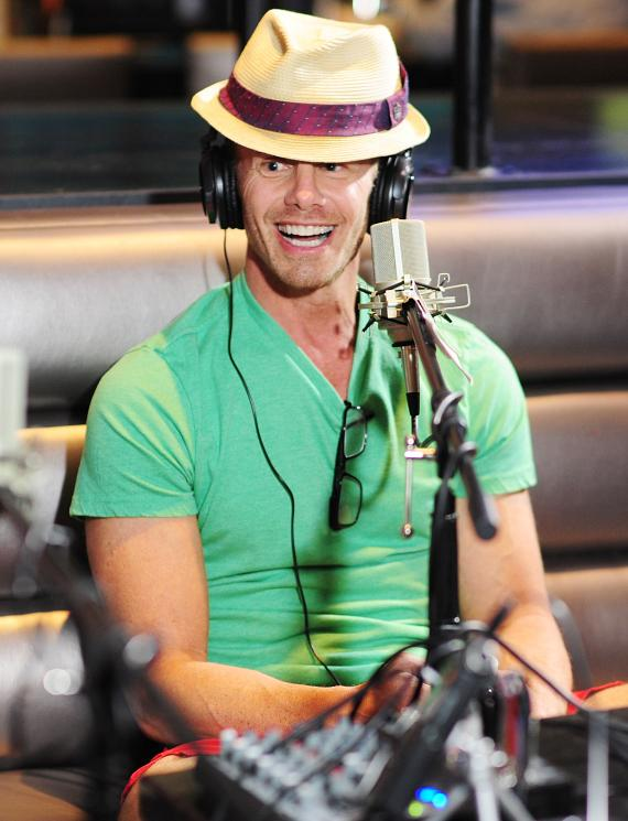 Ian Ziering goes On Air with Robert & CC at PBR Rock Bar in Las Vegas