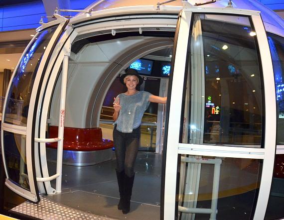Malin Akerman Takes a Ride on the High Roller at The LINQ Promenade in Las Vegas