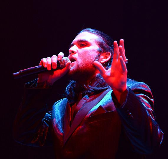 Singer Weston Cage performs during The 5th annual Vegas Rocks! Magazine Music Awards at The Pearl Concert Theater at the Palms Casino Resort