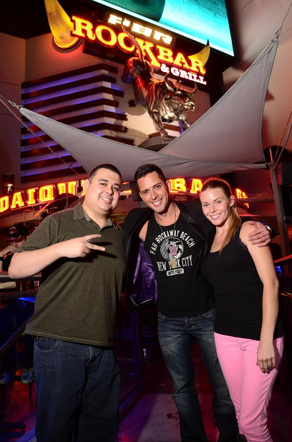 "Robert Blasi, David Hernandez and Christina ""CC"" Christensen at PBR Rock Bar"