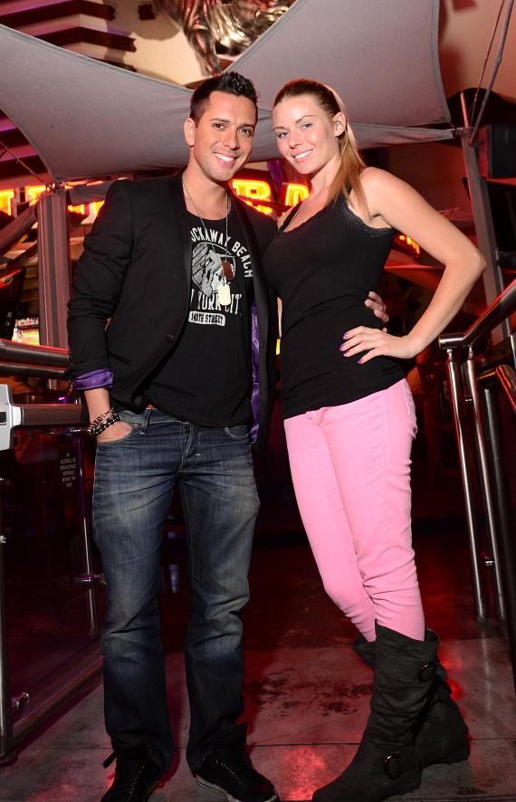"David Hernandez and Christina ""CC"" Christensen at PBR Rock Bar"