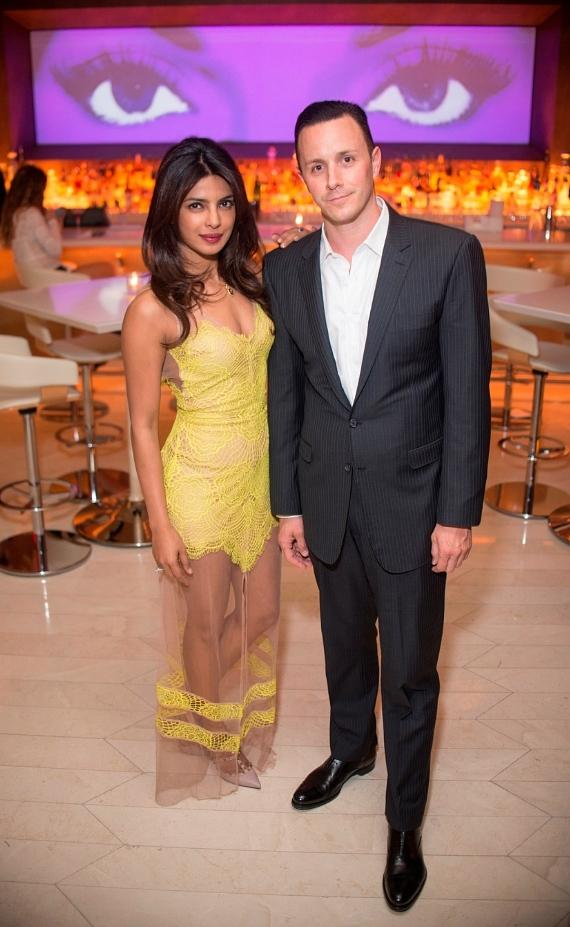 Bollywood Superstar Priyanka Chopra with Sean Christie, Managing Partner of Surrender Nightclub, Encore Beach Club and Andrea's