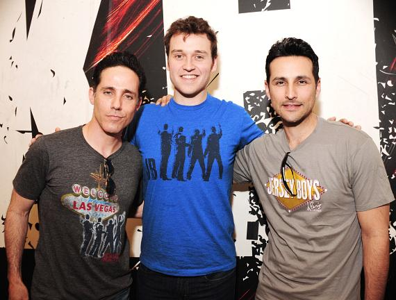 Jeff Leibow, Rob Marnell, and Jason Martinez from Jersey Boys