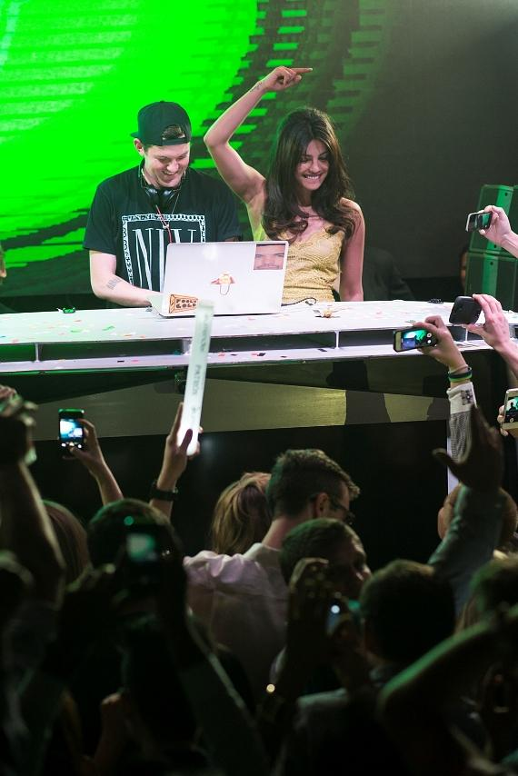 Priyanka Chopra with DJ Dillon Francis at Surrender Nightclub