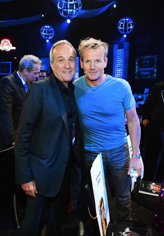 Keep Memory Alive Founder Larry Ruvo (L) and television personality and chef Gordon Ramsay