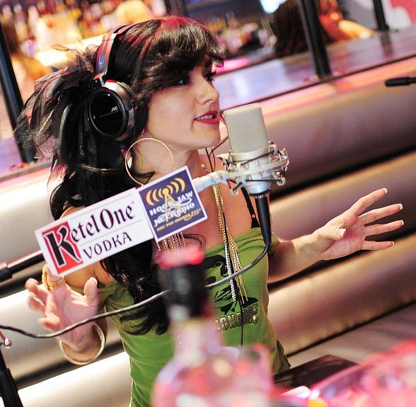 Melody Sweets goes 'On Air with Robert & CC' at PBR Rock Bar in Las Vegas