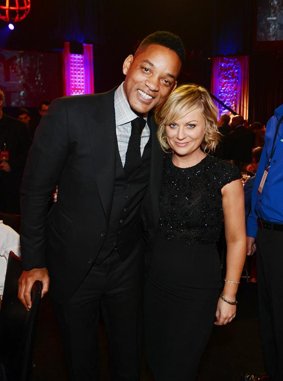 Actors Will Smith (L) and Amy Poehler attend the 17th annual Keep Memory Alive 'Power of Love Gala' benefit for the Cleveland Clinic Lou Ruvo Center for Brain Health