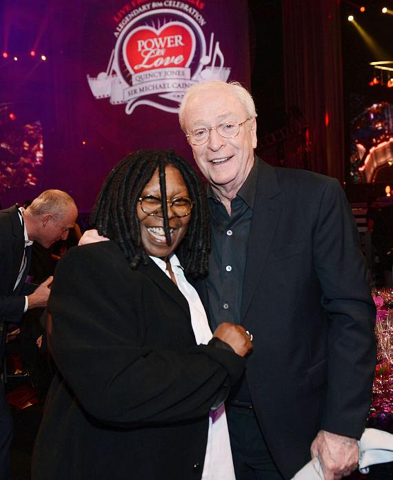 Actors Whoopi Goldberg (L) and Sir Michael Caine attend the 17th annual Keep Memory Alive 'Power of Love Gala' benefit for the Cleveland Clinic Lou Ruvo Center for Brain Health
