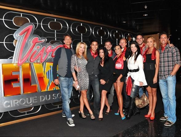 Dancing with the Stars: Live in Las Vegas Cast Visits Viva ELVIS by Cirque du Soleil