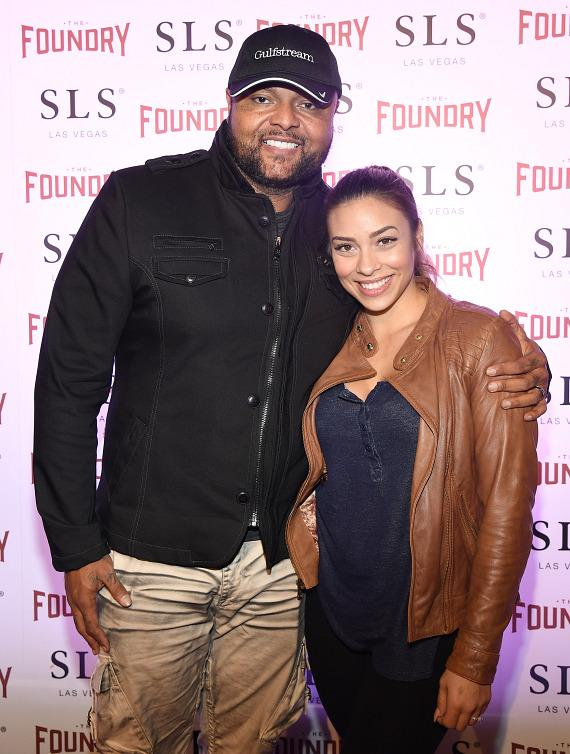 Damon and Nicky Elliott on the red carpet at The Foundry at SLS Las Vegas