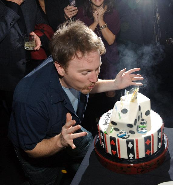 Dan Finnerty with birthday cake at TAO