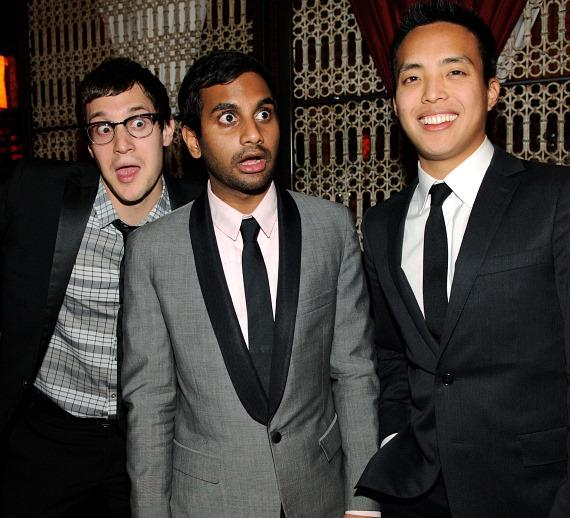 Dan Levy, Aziz Ansari and Alan Yang at LAVO