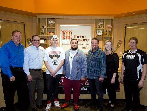 Dan Williams, Brian Burton, Sage Russell, Chumlee, Terry Fator, Angie Fiore Fator and Paul Hymas