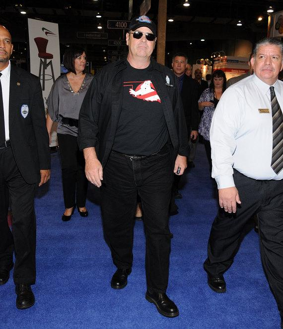 Dan Aykroyd enters Global Gaming Expo 2011 in Las Vegas