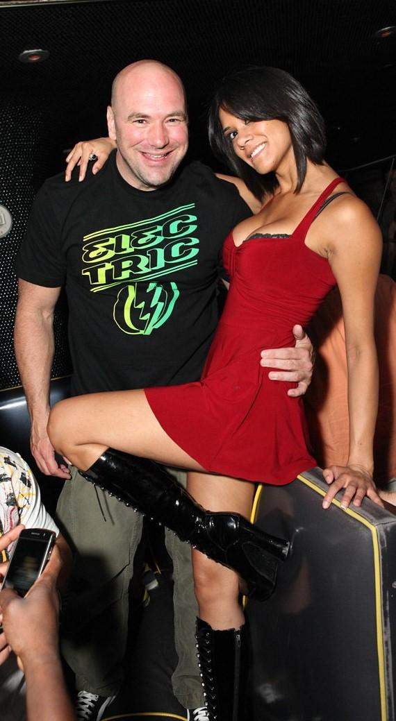 Dana White and lady friend