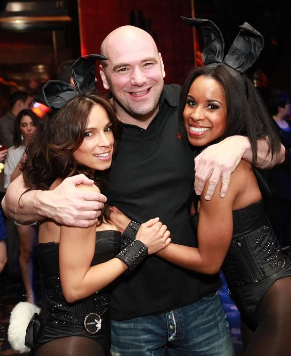 Dana White with Playboy Bunnies