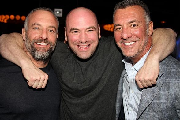 Dana White and Lorenzo Fertitta at Vanity