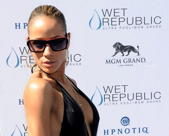 Dania Ramirez on blue carpet at WET REPUBLIC