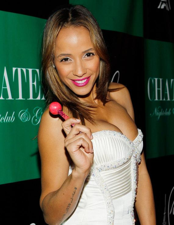 Dania Ramirez on the red carpet with a couture pop at Chateau Nightclub & Gardens