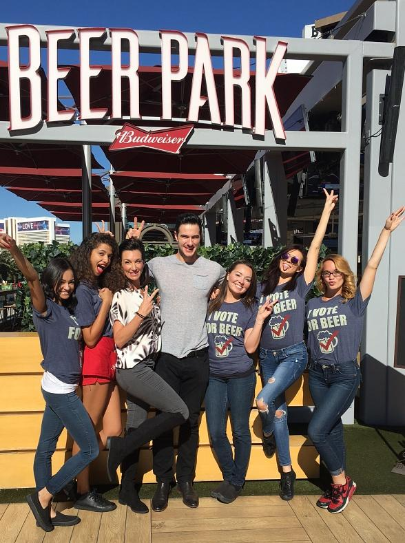 """Bachelor in Paradise"" star Daniel Maguire spotted at Beer Park at Paris Las Vegas"
