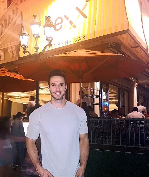 Daniel Maguire Dines at HEXX Kitchen + Bar in Las Vegas