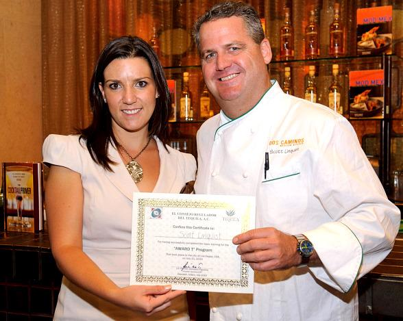 Daniela Solis of the Tequila Regulatory Council & Dos Caminos Corporate Executive Chef Scott Linquist
