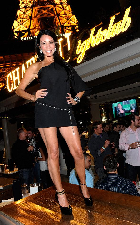 Danielle Staub on the Chateau Terrace for the pre-premiere party of VH1s Famous Food