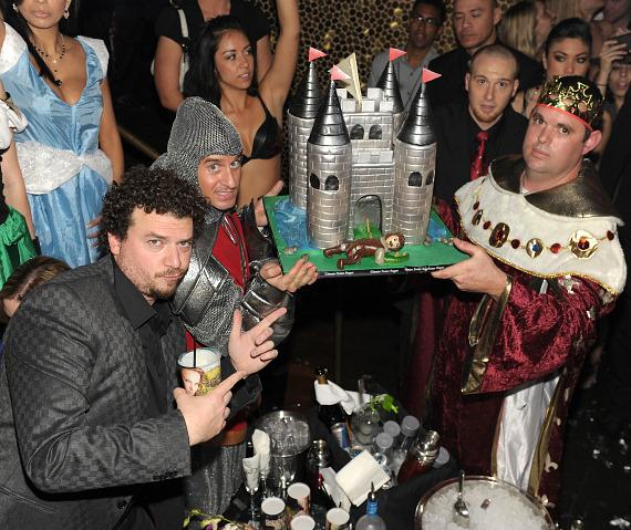 Danny McBride with cake at TAO Las Vegas