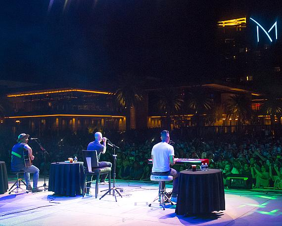 Daughtry performs for a sold-out crowd at M Pool during the band's Acoustic Trio Show at M Resort on Saturday, May 20