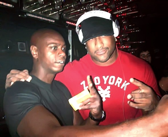 Dave Chappelle and Derrick Anthony at Hyde Bellagio, Las Vegas