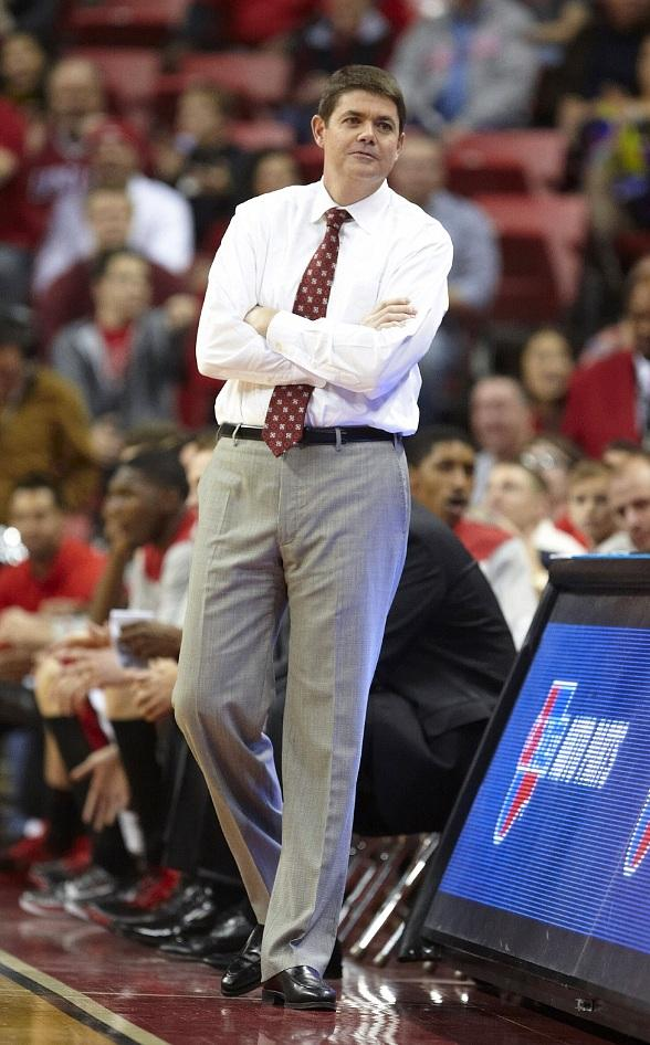 Dave Rice, the head coach of the UNLV Runnin' Rebels basketball team