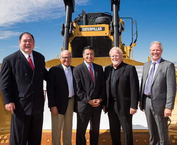 David Baker, Craig Johnson, Governor Brian Sandoval, Gary Holland and David Micheal