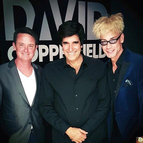 Jeff Wesson, David Copperfield and Murray SawChuck at MGM Grand Las Vegas