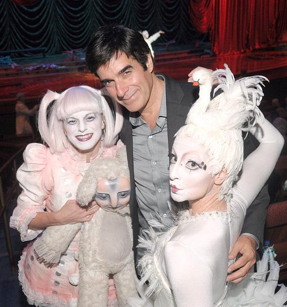 David Copperfield appears at Zarkana by Cirque du Soleil