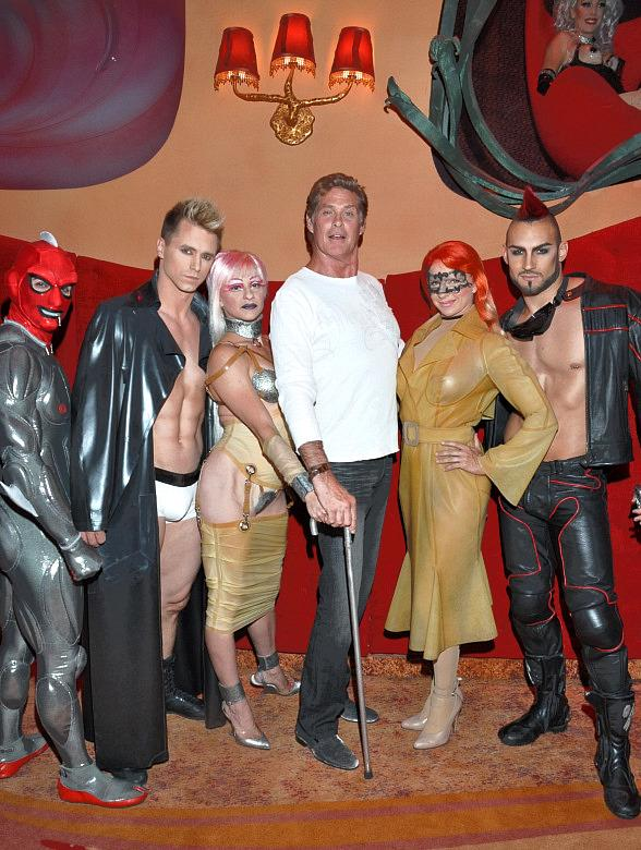 Zumanity  The Sensual Side of Cirque du Soleil welcomed David Hasselhoff to the show on Sunday, July 24 while in town celebrating his 59th birthday