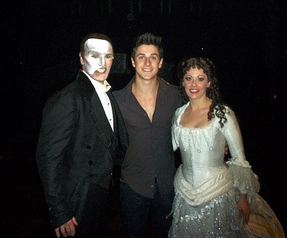 From left to right: Anthony Crivello, Disney-star David Henrie, Kristi Holden