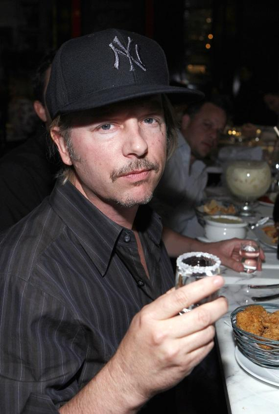 David Spade dining at Sugar Factory American Brasserie at Paris Las Vegas